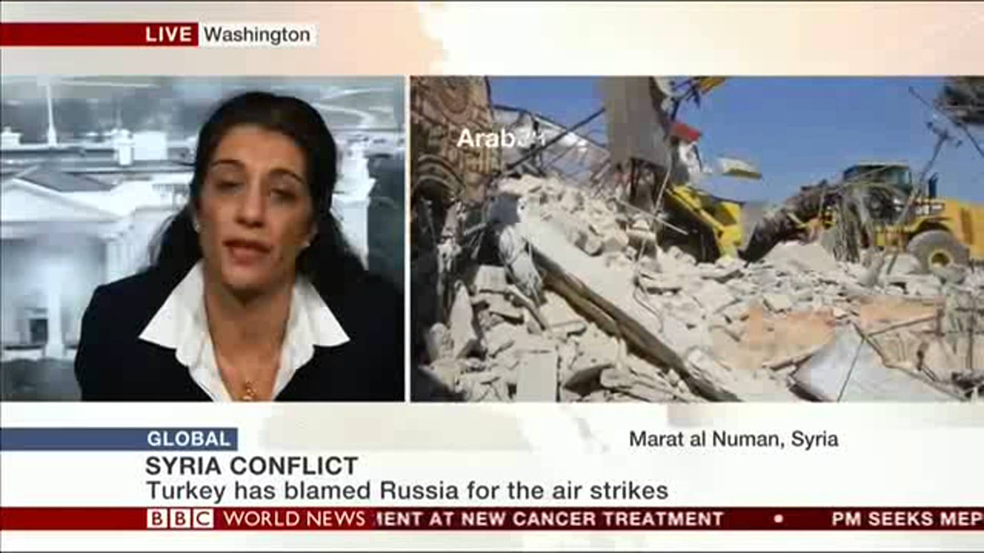 Sanam Naraghi-Anderlini speaks to BBC World News about the Syrian conflict