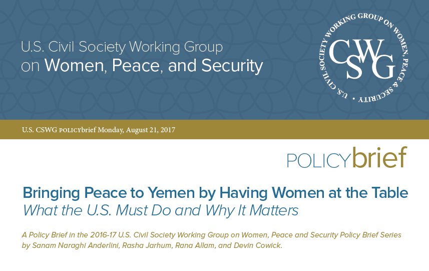 Bringing Peace to Yemen by Having Women at the Table