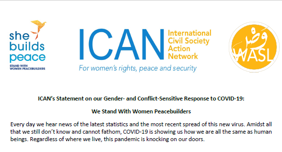 ICAN's Statement on our Gender- and Conflict-Sensitive Response to COVID-19