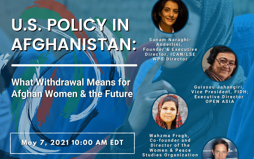 U.S. Policy in Afghanistan: What Withdrawal Means for Afghan Women & the Future