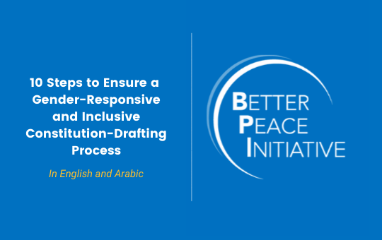 ICAN Launches Guidance Document on Gender-Responsive and Inclusive Constitution-Drafting Processes