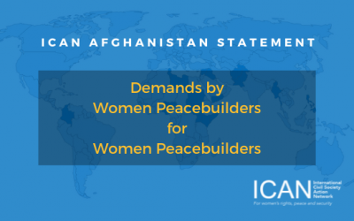 International Civil Society Action Network (ICAN) Statement on Afghanistan