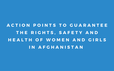 Sign-On: Action Points to Guarantee the Rights, Safety and Health of Women and Girls in Afghanistan